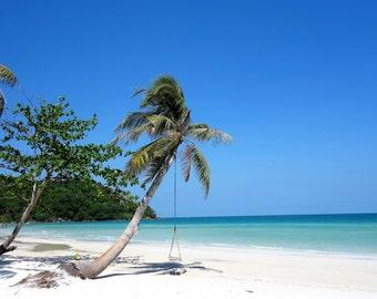 Deserted Island Photo / Digital Cuban Beach Photograph / Digital Photograph / Printable Beach Photo / Summer Wall Art / JPG Download Foto