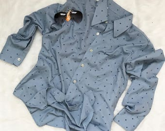 Vintage Mens 70's Disco Burma Shirt