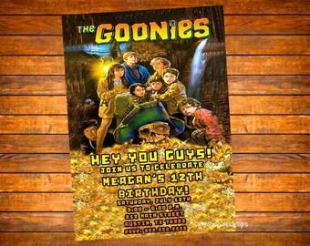 Custom DIGITAL Goonies Movie Invitation
