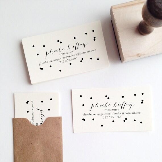Confetti business card stamp colourmoves Gallery