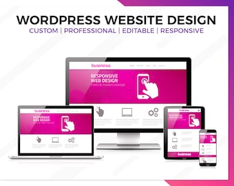 Wordpress Website Design, Business Website Design, Website Design, Professional Website, Custom Website, Functional , Responsive Website