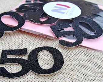 50th birthday party decorations, 50 confetti, Birthday numbers, 50 and fabulous, Number confetti, 50th birthday, 50 birthday decorations