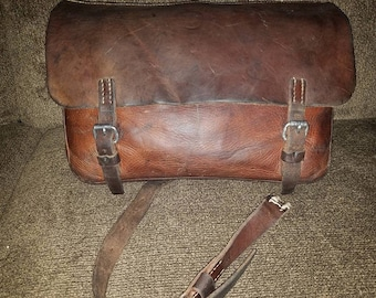 Swiss Army Leather saddlebag