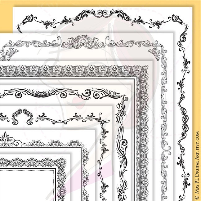 Page Border Certificate Frames Vintage Borders great as Award
