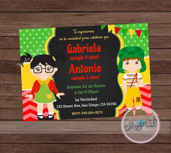 El Chavo Del Ocho Invitations By86 Advancedmassagebysara