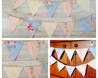 Shabby Chic bunting banner garland back drop