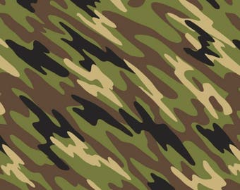 Camo Anti-Pill Fleece by the yard /David Textiles/Free shipping available/boys fabric/hunting/camo/green/black