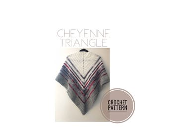 Cheyenne Triangle Crochet Pattern | Scarf Pattern | Shawl Pattern | Crochet Shawl Pattern | Crochet Scarf Pattern