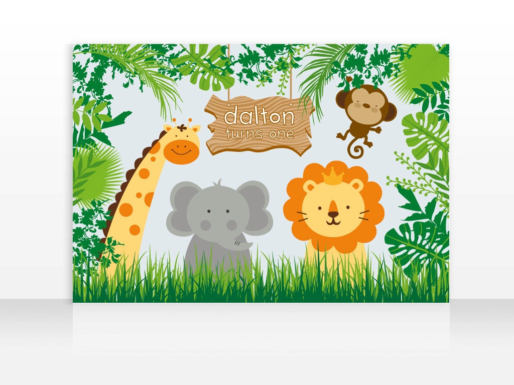 It's just a picture of Lively Free Printable Jungle Animals