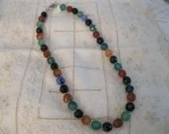 Multi-color Round Beaded Necklace
