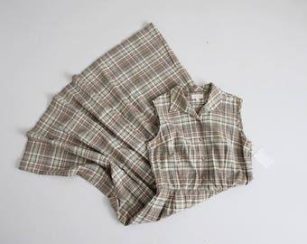 autumn plaid dress | plaid collared dress | vintage brooks brothers dress