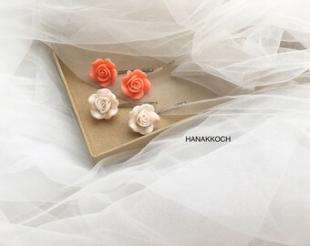 Rose Hair Pin / Flower Hair Pin / Floral Hair Pin / Hair Accessories / Hair Pin / Wedding Accessories / Flower Girl / Bridesmaid