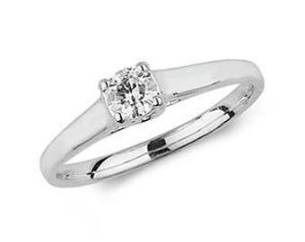 SOLITARE Diamond  Wedding Engagement Ring- Ideal  For: Engagement- Wedding- Birthday- Mother Day's- or just for you