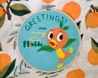 Orange Bird (6 inch hoop)