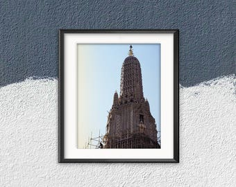 Travel Print , Thailand , Travel Art Asia , Wall Decor , Temple , Asia style