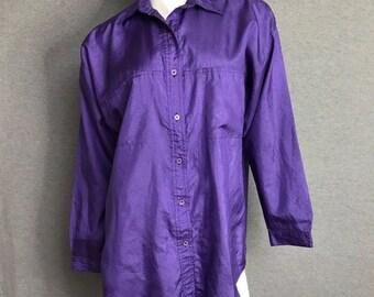 DIANE VON FURSTENBERG Purple Vintage Top Size: S