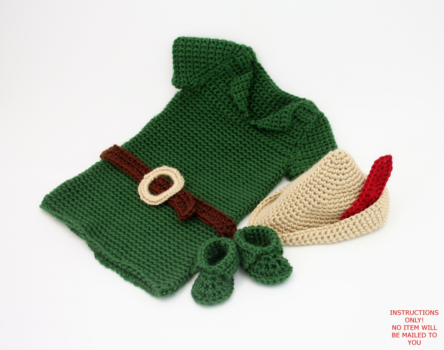 Pdf digital patternboy crochet outfitbaby robin hood costume zoom bankloansurffo Image collections