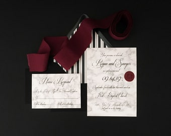 Marble Wedding Invitations - Marble Wedding - Wedding Invitations