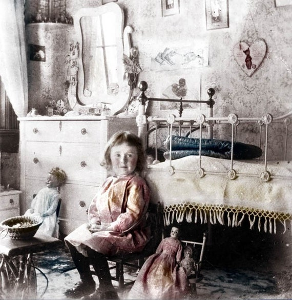 Items Similar To Vintage Photo Little Girl Victorian