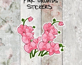 Pink Orchids Stickers