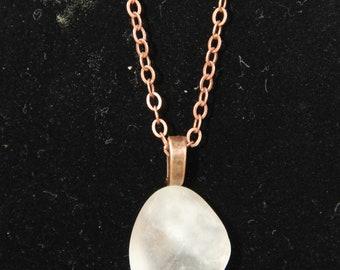 Quartz Crystal on an Antique Copper Chain