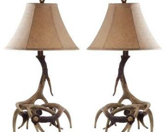 Antler table lamps qty-2