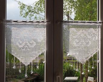 handmade crochet curtain lace Elizabeth's arabesques