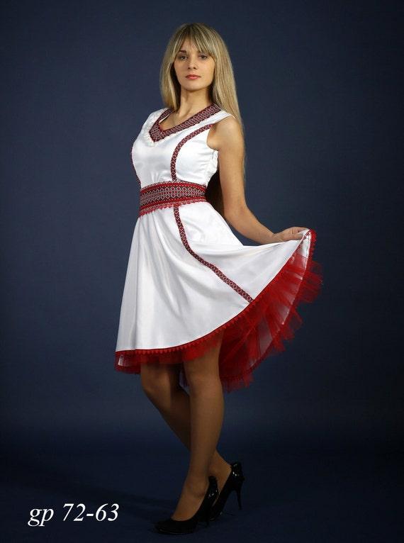 Fashion embroidered dress Ukrainian Womens dress with