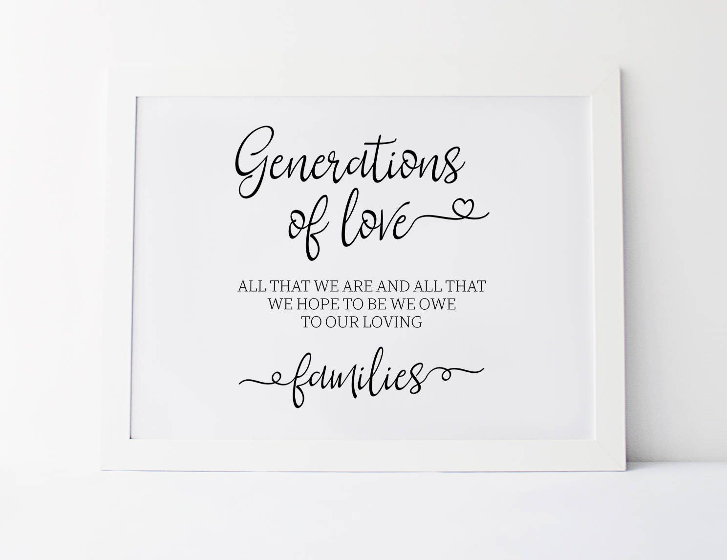 Love Quote Signs Generations Of Love Wedding Signs Generations Of Love Sign