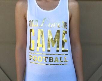 Gold Foil Football Tank