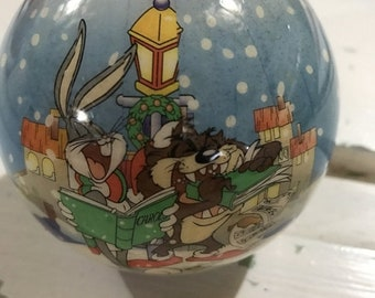 APRILSALE Vintage Looney Tunes 1995 ornament with Bugs and Taz