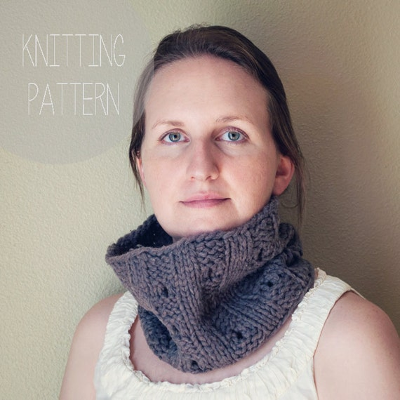 Cowl Pdf Pattern Ribbed Knitted Neck Warmer Knitted Cowl