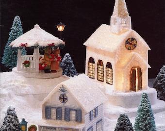 Winter Village (plastic canvas needlepoint) from Annie's Attic | Craft Book