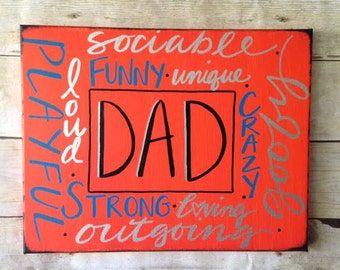 DAD- A perfect gift on Canvas