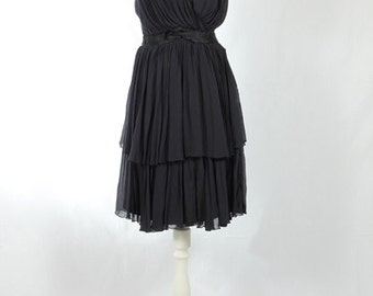 1980s Vintage pleated dress
