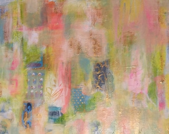 """Original Abstract Painting 16"""" x 20""""  Acrylic on Canvas Modern Wall Art, Contemporary Home Decor"""