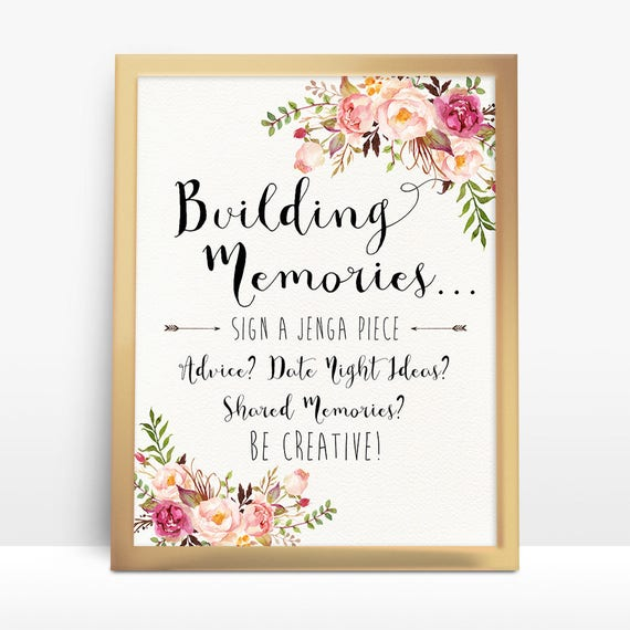 Wedding Guest Signing Ideas: Jenga Guest Book Sign Wedding Jenga Jenga Sign Jenga Guest