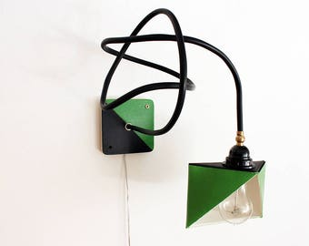 Lampada da parete rame e legno applique lampada in legno for Applique da parete legno
