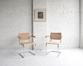 Midcentury modern chair in style of Marcel Breuer (one available)