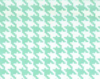 Everyday Houndstooth in Sea Foam by Michael Miller