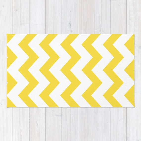 Chevron Kitchen Rug: Yellow Chevron Area Rug Yellow And White Chevron Printed Rug