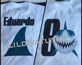 Shark birthday shirt, shark shirt, shark birthday boy shirt