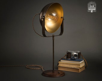 Studio Table Lamp   Aged Brass   Desk Lamp   Edison Light Bulb   Table Lamp   Bed Light   Night Stand   Leora Collection