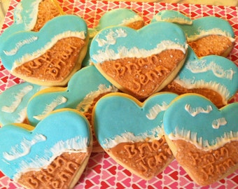 Beach Wedding Cookies (2Dozen)