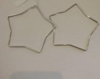 Stars Maxi Earrings Silver 925 rhodium-plated