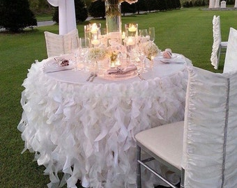 Ruffle Tablecloth, Curly Willow Tablecloth