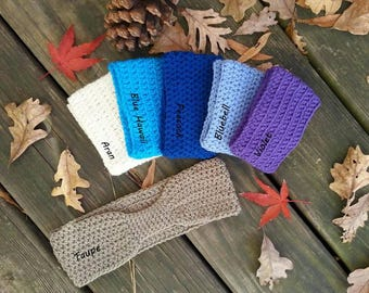 Crochet Ear Warmers, Ear Warmers, Headband, Crocheted Headband, Winter Fashion,