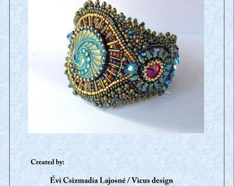 Tutorial ,Pattern,  Bead embroidery ,Beading pattern , Instructions only , Pirate's Treasure