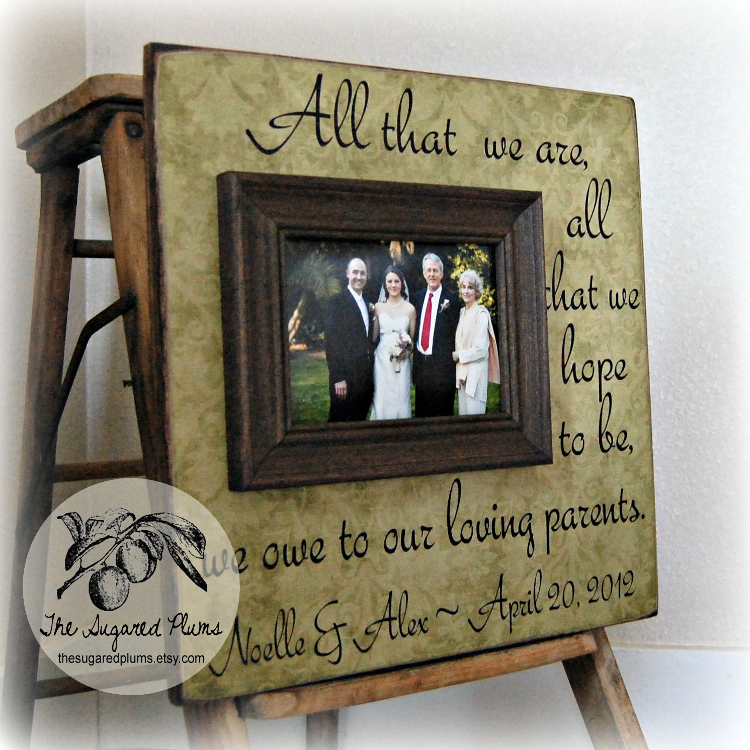 Wedding Gifts For Fathers: Parents Thank You Gifts Wedding Personalized Picture Frame
