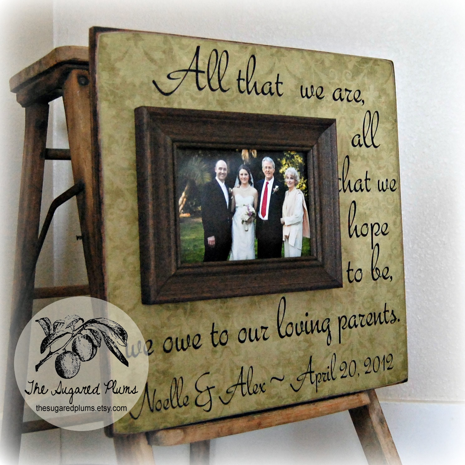 Gifts For Parents Wedding Thank You: Parents Thank You Gifts Wedding Personalized Picture Frame